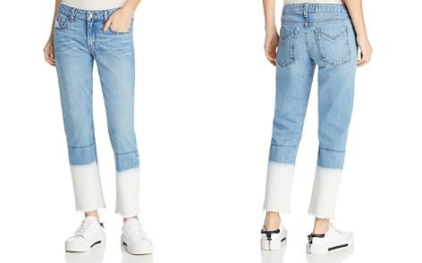 Derek Lam 10 Crosby Mila Mid Rise Slim Jeans in Bleached Hem - Bloomingdale's_2