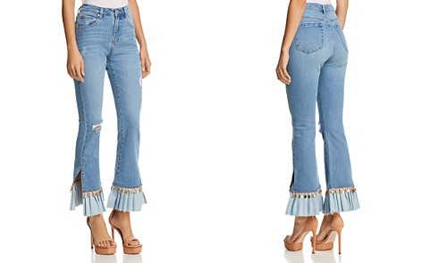BLANKNYC Embellished Flared Jeans in Love Cry - 100% Exclusive - Bloomingdale's_2