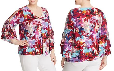 Cupio Plus Floral-Print Cold-Shoulder Top - 100% Exclusive - Bloomingdale's_2