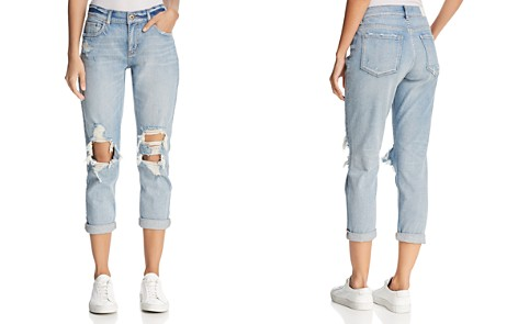Pistola Mason Distressed Girlfriend Jeans in Blue Nostalgia - 100% Exclusive - Bloomingdale's_2