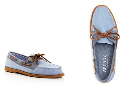 Sperry Men's Authentic Original Two Eye Chambray Boat Shoes - Bloomingdale's_2