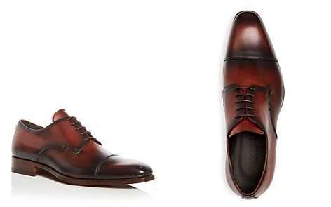 A.Testoni Men's Burnished Leather Cap Toe Oxfords - Bloomingdale's_2