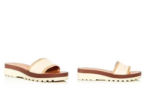 See by Chloé Women's Leather Wedge Platform Slide Sandals - Bloomingdale's_2