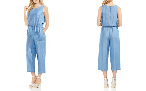VINCE CAMUTO Pinstripe Chambray Jumpsuit - Bloomingdale's_2
