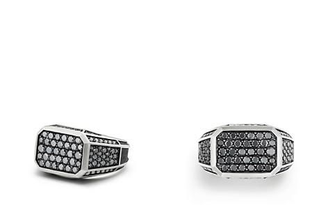 David Yurman Streamline Pavé Signet Ring with Black Diamonds - Bloomingdale's_2