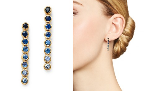 SheBee 14K Yellow Gold Ombré Sapphire Linear Drop Earrings - Bloomingdale's_2