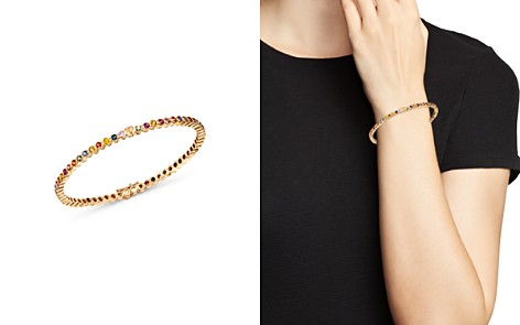 SheBee 14K Yellow Gold Multicolor Sapphire Infinity Bangle Bracelet - Bloomingdale's_2