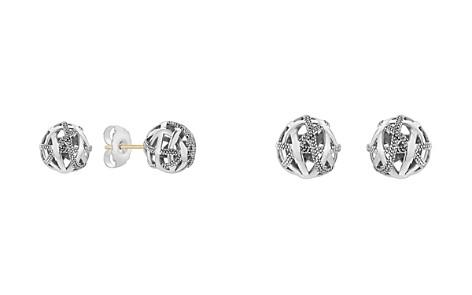 LAGOS Sterling Silver Caviar Talisman Woven Knot Stud Earrings - Bloomingdale's_2