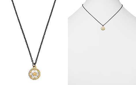 """Armenta 18K Yellow Gold & Blackened Sterling Silver Old World Crivelli White Sapphire, Black Sapphire & Champagne Diamond Star Pendant Necklace, 16"""" - Bloomingdale's_2"""