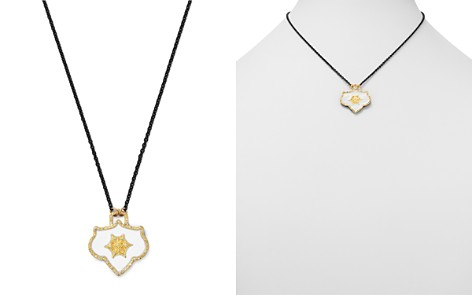 """Armenta 18K Yellow Gold & Blackened Sterling Silver Crivelli Champagne Diamond Shield Pendant Necklace, 16"""" - Bloomingdale's_2"""