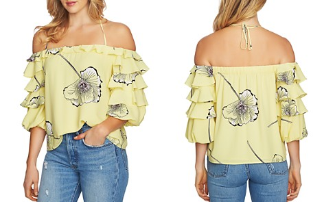 1.STATE Tiered Ruffle Sleeve Floral Top - Bloomingdale's_2