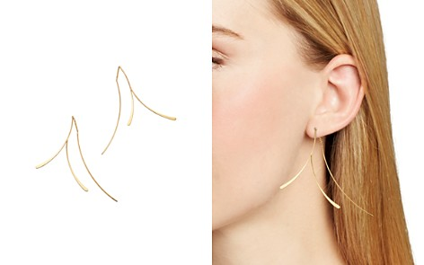 Moon & Meadow Branch Threader Earrings in 14K Yellow Gold - 100% Exclusive - Bloomingdale's_2