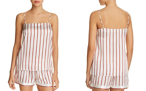 GINIA Striped Silk Cami & Shorts - Bloomingdale's_2