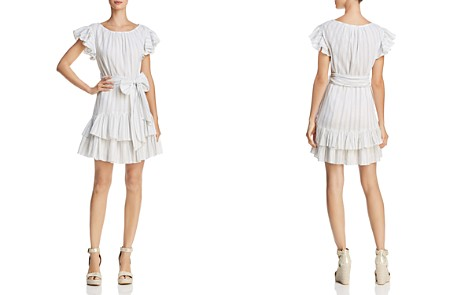 Rebecca Taylor Striped Ruffle Dress - Bloomingdale's_2