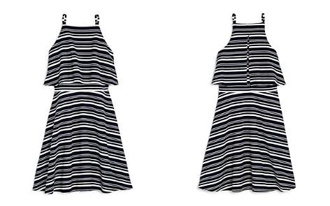 AQUA Girls' Popover Stripe Dress, Big Kid - 100% Exclusive - Bloomingdale's_2