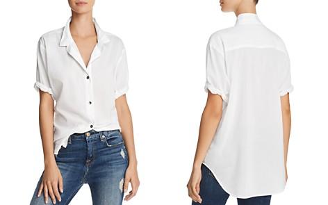 Splendid Short Sleeve Boyfriend Shirt - Bloomingdale's_2