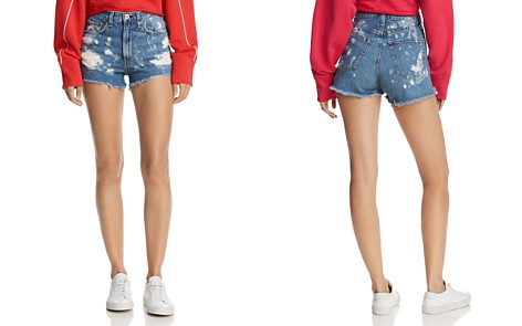 rag & bone/JEAN Justine High-Rise Distressed Denim Shorts in Brokenland - Bloomingdale's_2
