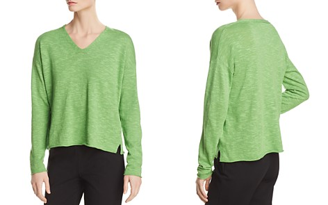 Eileen Fisher Relaxed V-Neck Sweater - Bloomingdale's_2