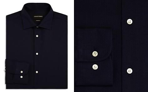 Emporio Armani Tonal Stitch Regular Fit Dress Shirt - Bloomingdale's_2