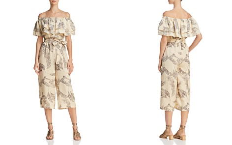 Sadie & Sage Ruffled Off-the-Shoulder Tropical-Print Jumpsuit - Bloomingdale's_2