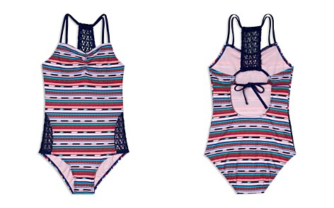 Gossip Girl Girls' Desert Stripe Swimsuit - Big Kid - Bloomingdale's_2