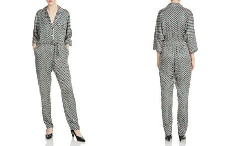 Maje Punsh Printed Pajama-Style Silk Jumpsuit - Bloomingdale's_2