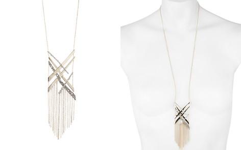 """Alexis Bittar Crystal Encrusted Link Tassel Bib Necklace, 28"""" - Bloomingdale's_2"""