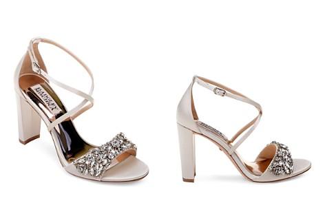 Badgley Mischka Women's Harper Embellished Satin Crisscross Strap Sandals - Bloomingdale's_2