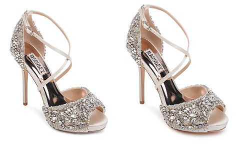 Badgley Mischka Women's Hyper Embellished Satin Platform High-Heel Sandals - Bloomingdale's_2