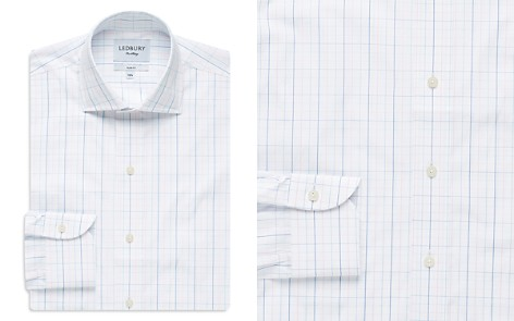Ledbury Windowpane Slim Fit Dress Shirt - Bloomingdale's_2