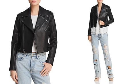 Alice + Olivia Cody Cropped Leather Moto Jacket - Bloomingdale's_2