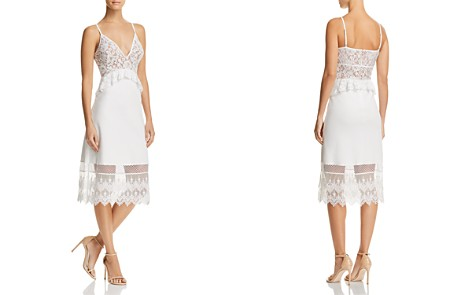 FRENCH CONNECTION Delos Lucky Layer Lace-Detail Dress - Bloomingdale's_2