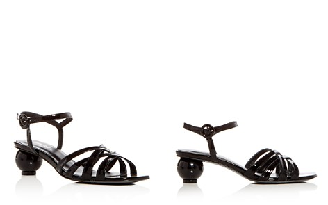 Carel Women's Patent Leather Crisscross Sphere Heel Sandals - Bloomingdale's_2