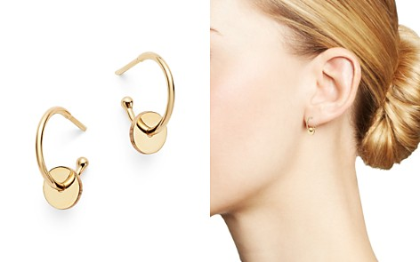 Zoë Chicco 14K Yellow Gold Washer Huggie Hoop Earrings - Bloomingdale's_2