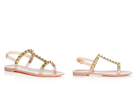 Stuart Weitzman Women's Jelrose Studded T-Strap Jelly Sandals - Bloomingdale's_2