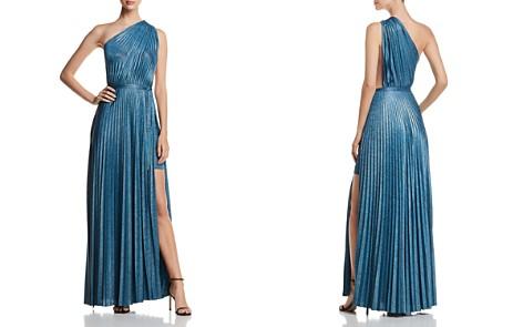 Elie Tahari Mistry Pleated One-Shoulder Maxi Dress - Bloomingdale's_2