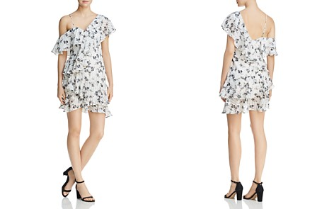 Elliatt Asymmetric Cold-Shoulder Floral Dress - Bloomingdale's_2