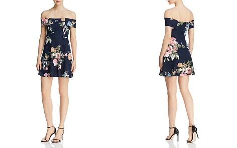 AQUA Floral Print Off-the-Shoulder Dress - 100% Exclusive - Bloomingdale's_2