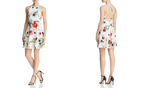 AQUA Strappy Floral Print Dress - 100% Exclusive - Bloomingdale's_2