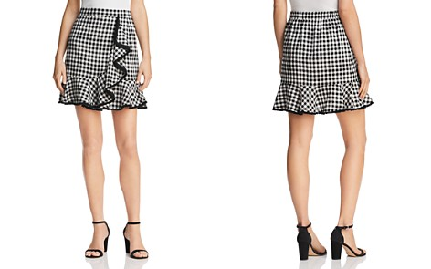 AQUA Gingham Fringe-Trim Skirt - 100% Exclusive - Bloomingdale's_2