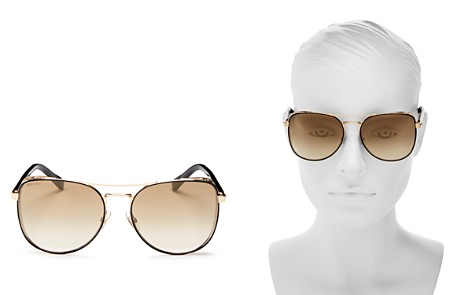 Jimmy Choo Women's Sheena Mirrored Brow Bar Square Sunglasses, 60mm - Bloomingdale's_2