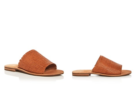 Frye Women's Riley Woven Leather Slide Sandals - Bloomingdale's_2