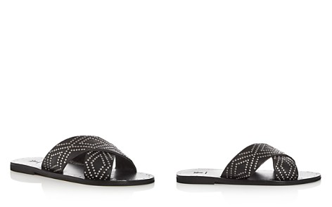 Frye Women's Ally Studded Leather Crisscross Slide Sandals - Bloomingdale's_2