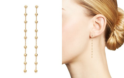 Moon & Meadow Diamond-Cut Beaded Drop Earrings in 14K Yellow Gold - 100% Exclusive - Bloomingdale's_2
