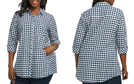 Foxcroft Plus Cici Gingham Tunic - Bloomingdale's_2