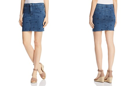 J Brand Lyla Denim Mini Skirt in Aerial - Bloomingdale's_2