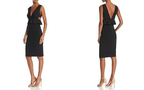 Aidan by Aidan Mattox Scuba-Crepe Peplum Dress - 100% Exclusive - Bloomingdale's_2