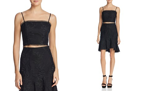 Lucy Paris Maria Embroidered Cropped Top - Bloomingdale's_2