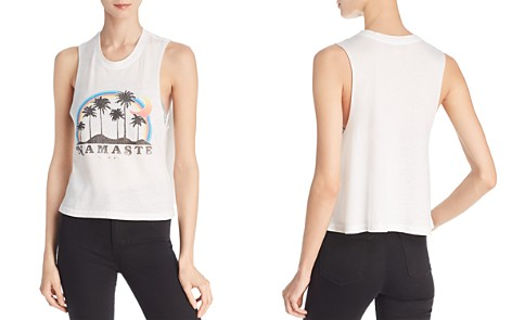 Spiritual Gangster Namaste Beach Graphic Muscle Tank - Bloomingdale's_2