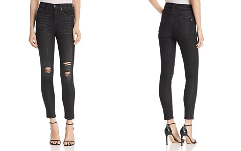rag & bone/JEAN High-Rise Distressed Ankle Skinny Jeans in Blacklock Hole - 100% Exclusive - Bloomingdale's_2